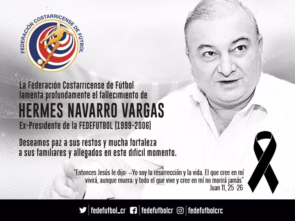 FEDEFUTBOL lamenta deceso de Hermes Navarro