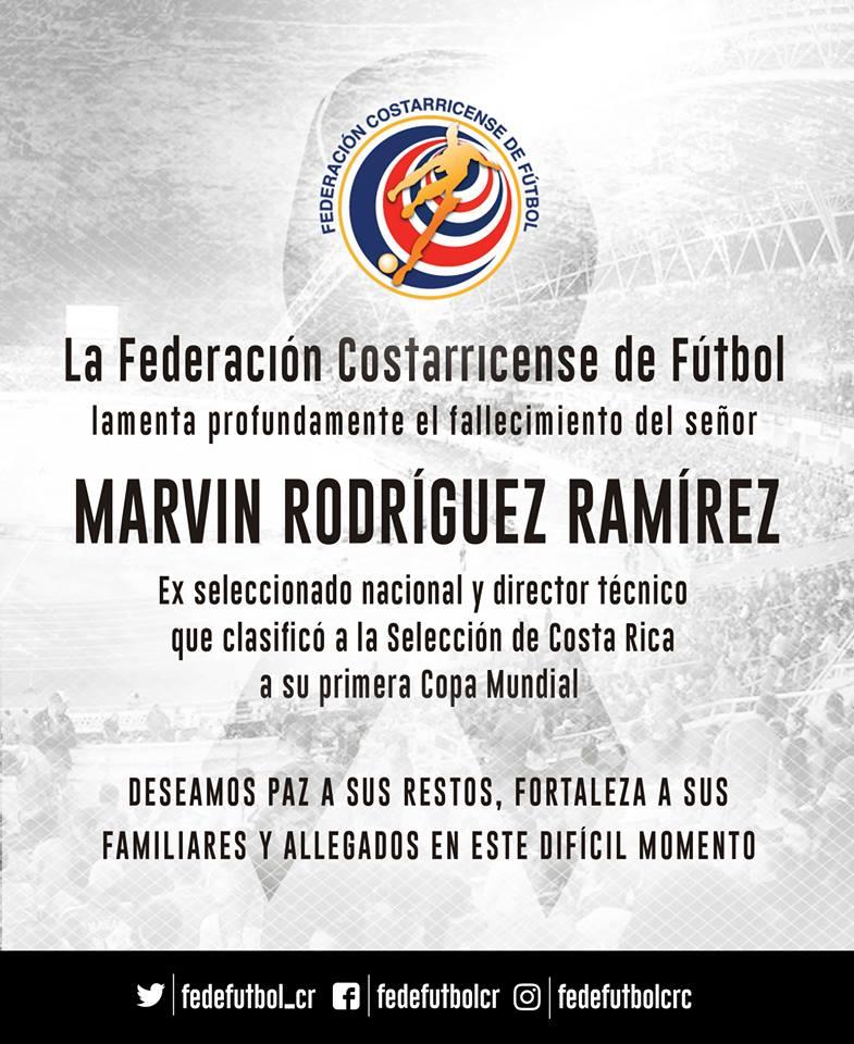 Marvin Rodríguez deja gran legado en fútbol tico