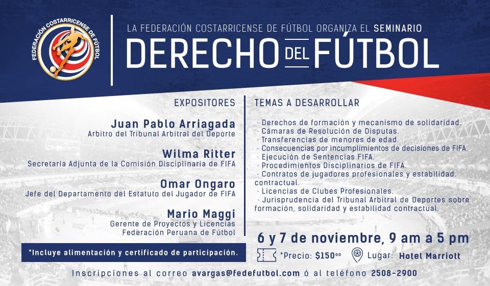 FEDEFUTBOL organiza seminario en derecho de fútbol
