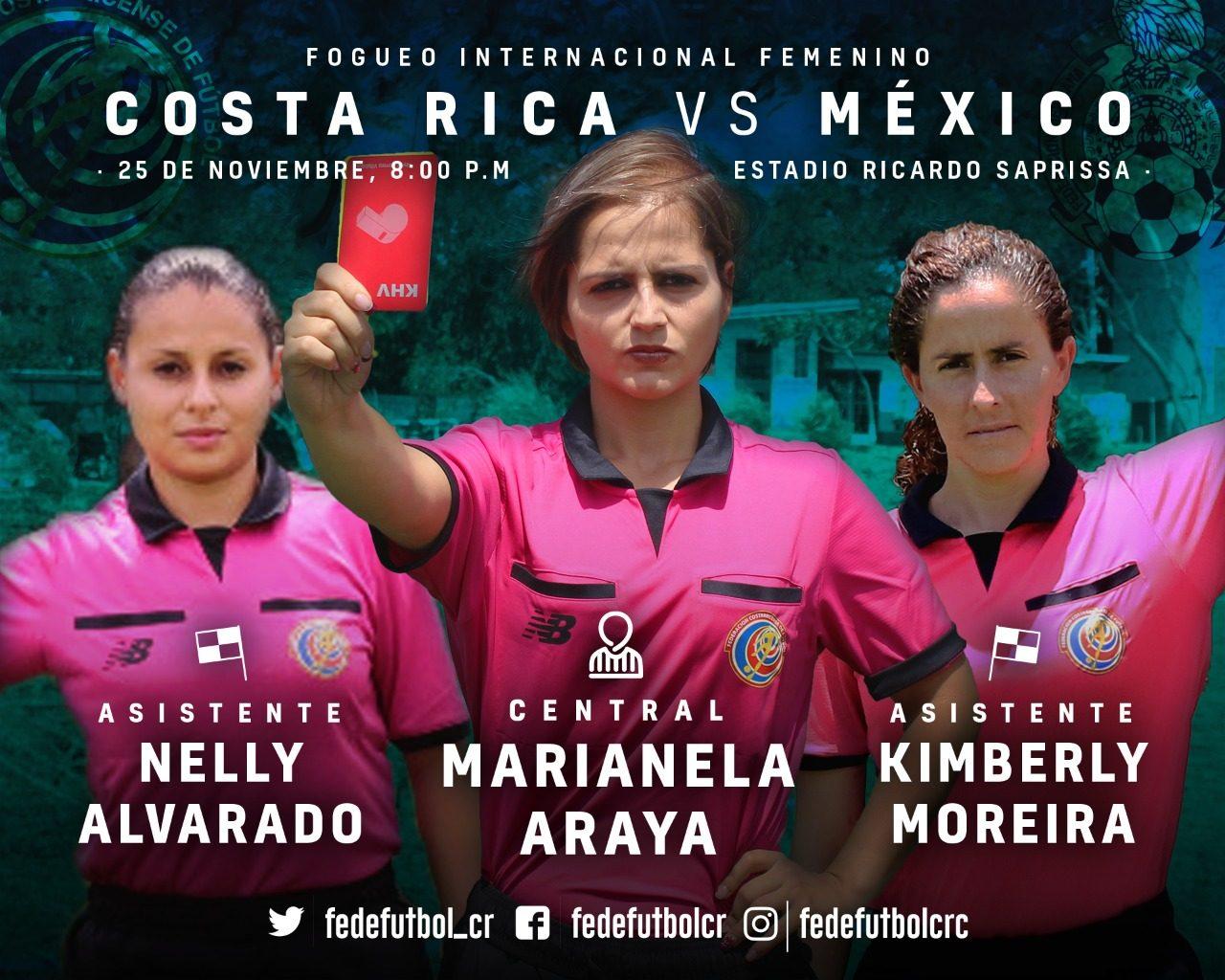 Árbitras ticas dirigirán Costa Rica vs México