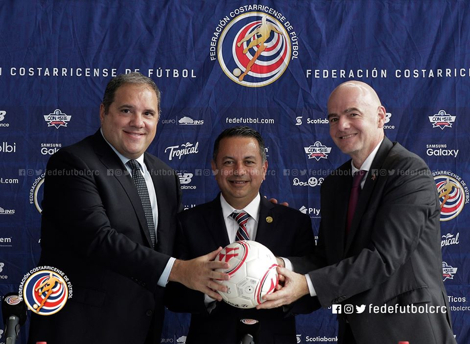 Infantino ratifica confianza en Costa Rica y en la FEDEFUTBOL