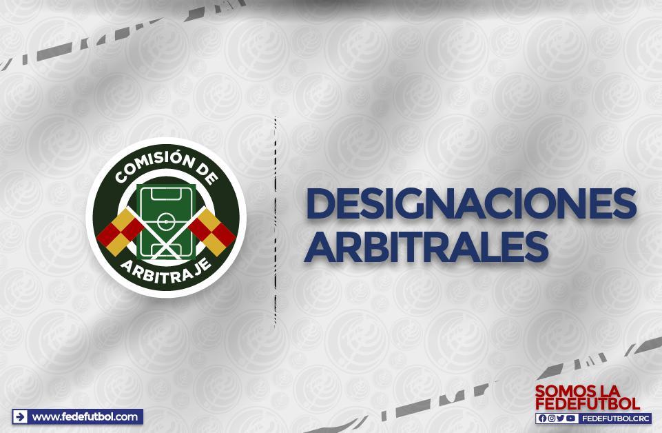 Árbitros listos para la jornada 11 de la Primera División
