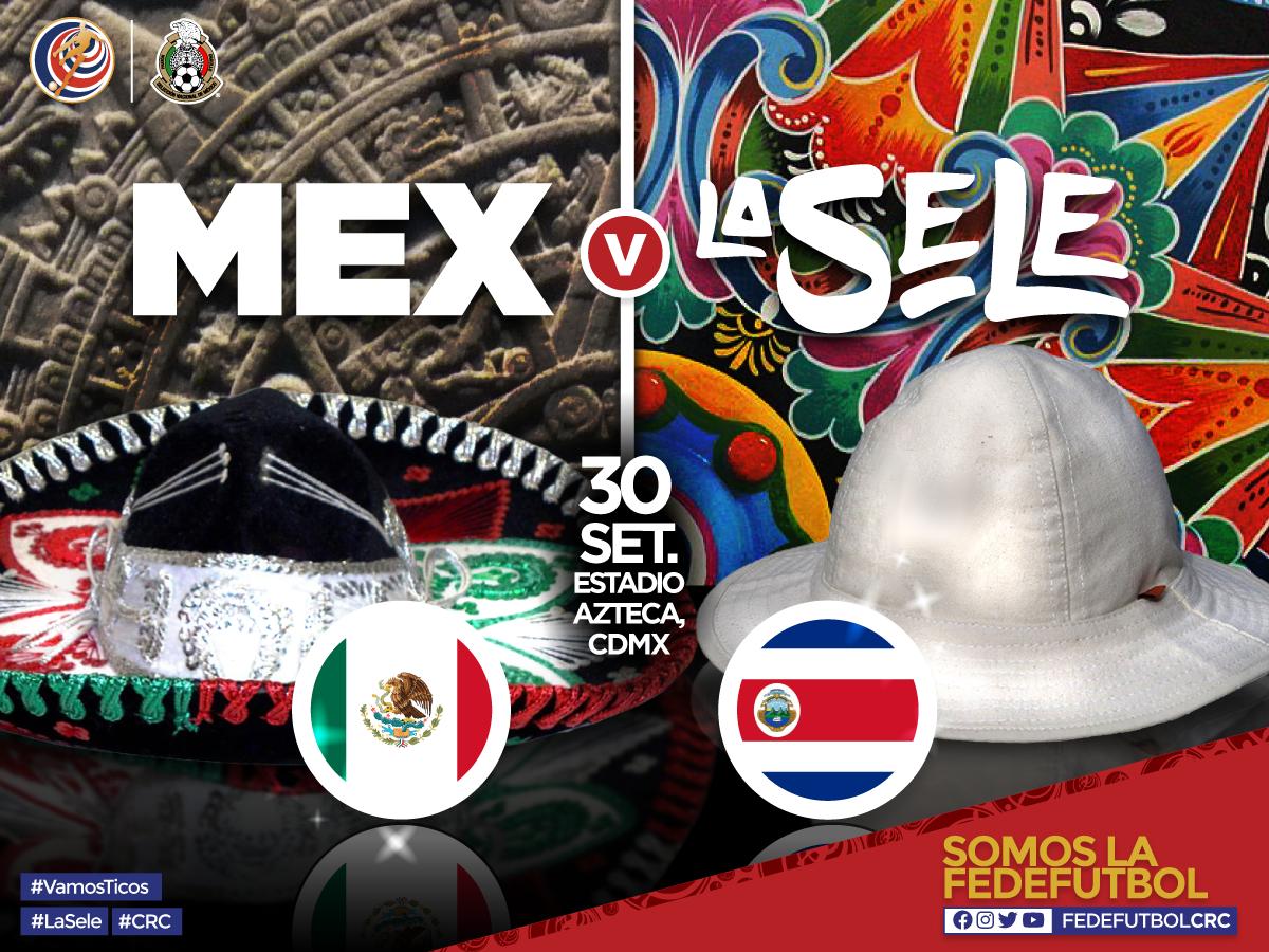 Costa Rica jugará partido amistoso contra México