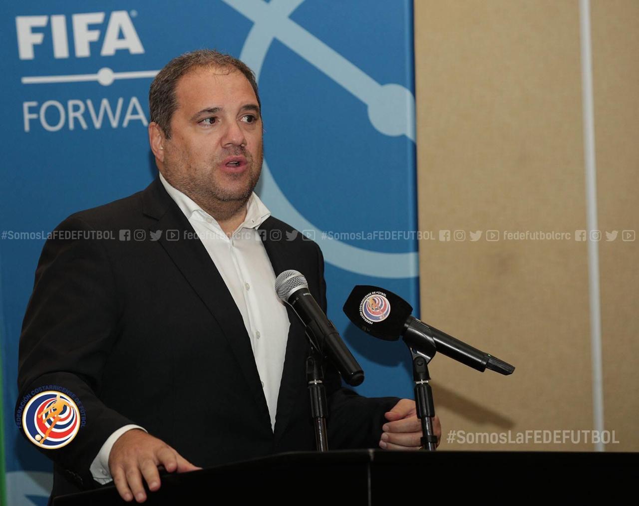 """Víctor Montagliani: """"Hay un gran respeto por Costa Rica en CONCACAF y FIFA"""""""