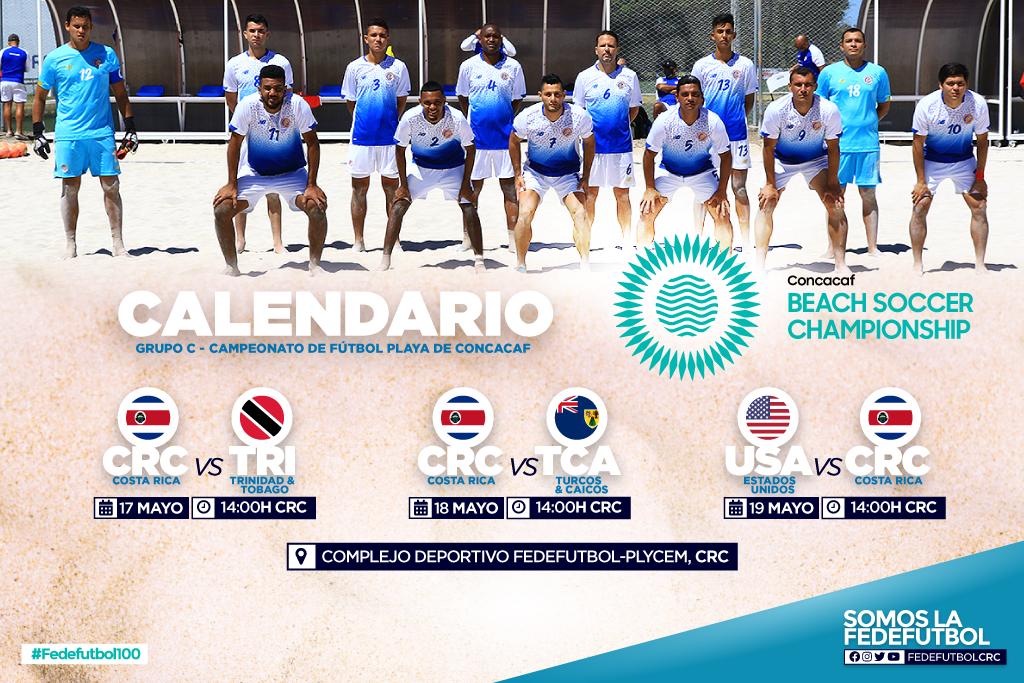 Concacaf anunció el calendario para Premundial de Fútbol Playa