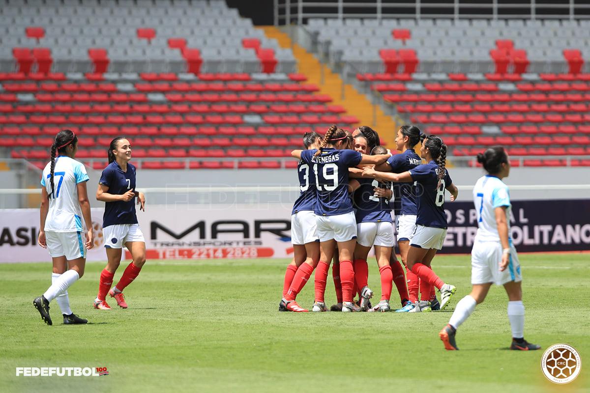La Sele femenina derrota a Guatemala en el Centenario de la Fedefútbol