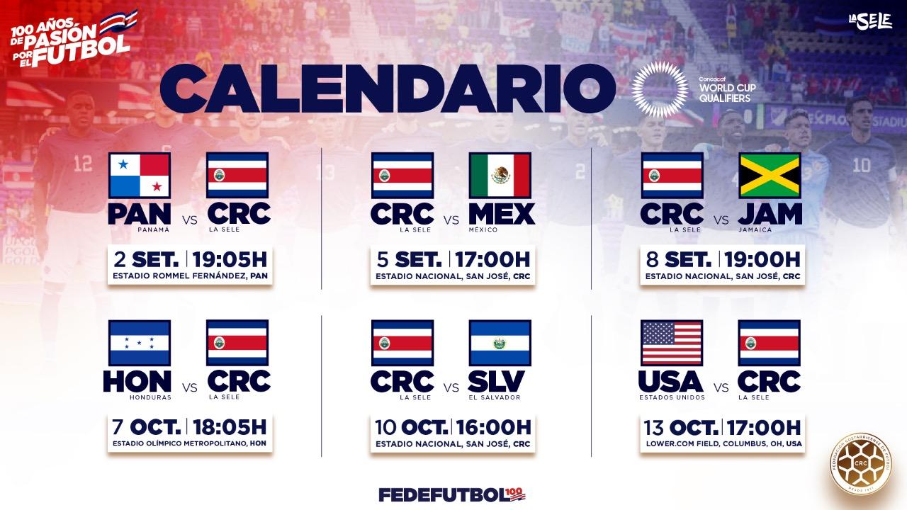Concacaf confirma sedes y horarios para arranque de eliminatoria mundialista
