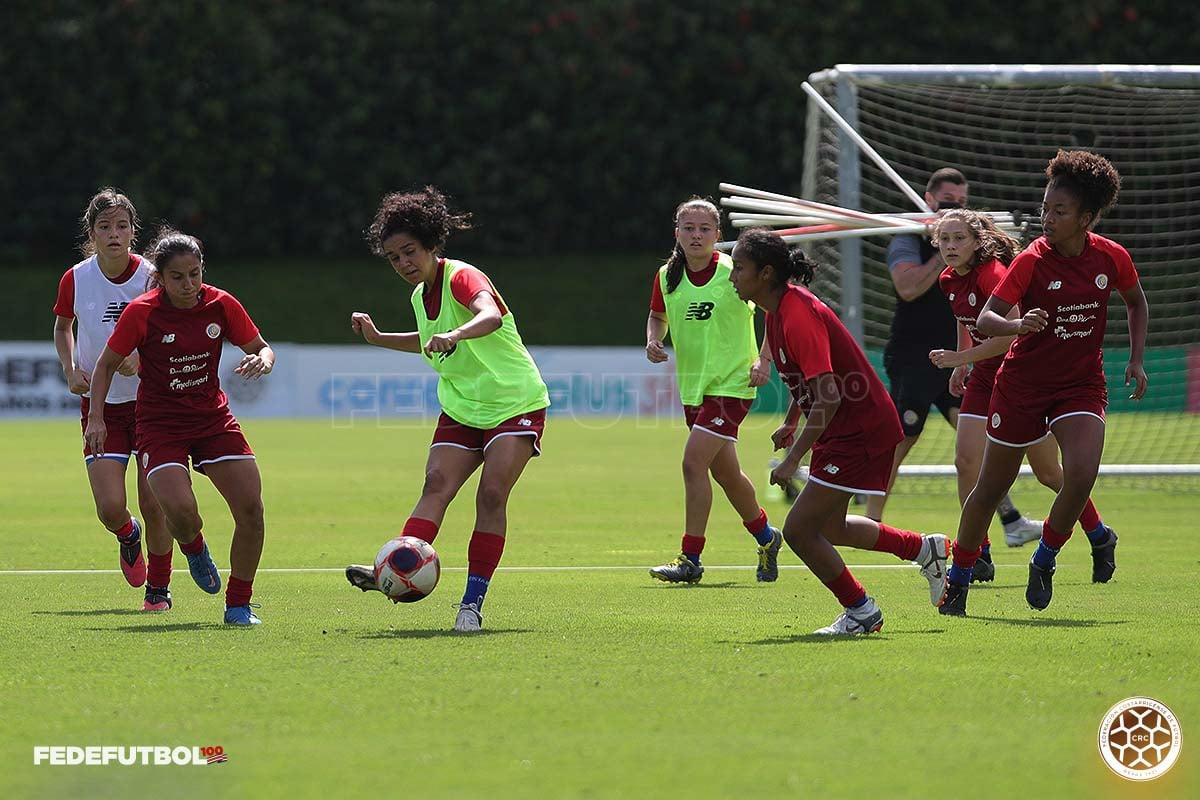 Femenina Sub 20 de Costa Rica lista para enfrentar a España en partidos amistosos
